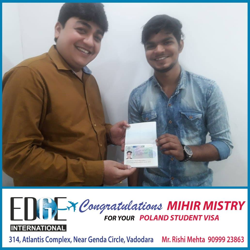 Congratulation Mihir Mistry for Your Poland
