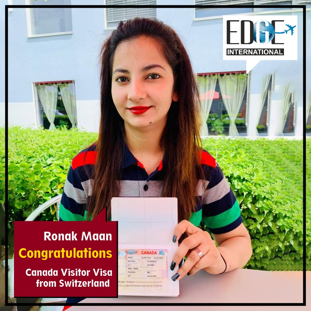 Congratulation Ronak Mann for getting Canada Visitor Visa from