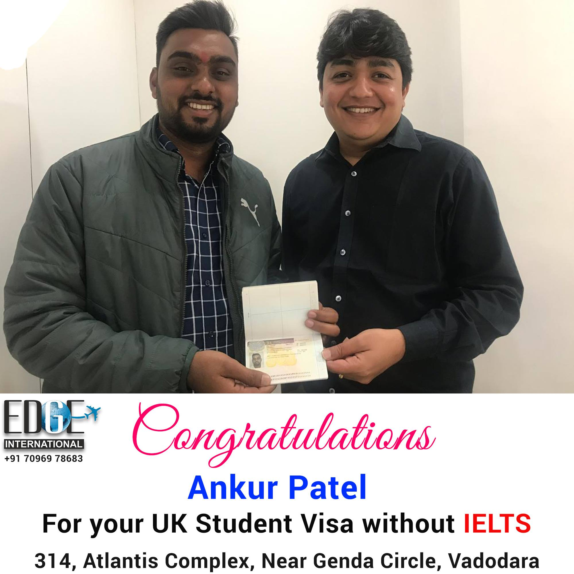 Congratulations to Ankur Patel for getting UK student visa