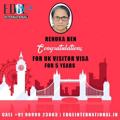 Congratulations to Renukaben for 5 years UK Visitors