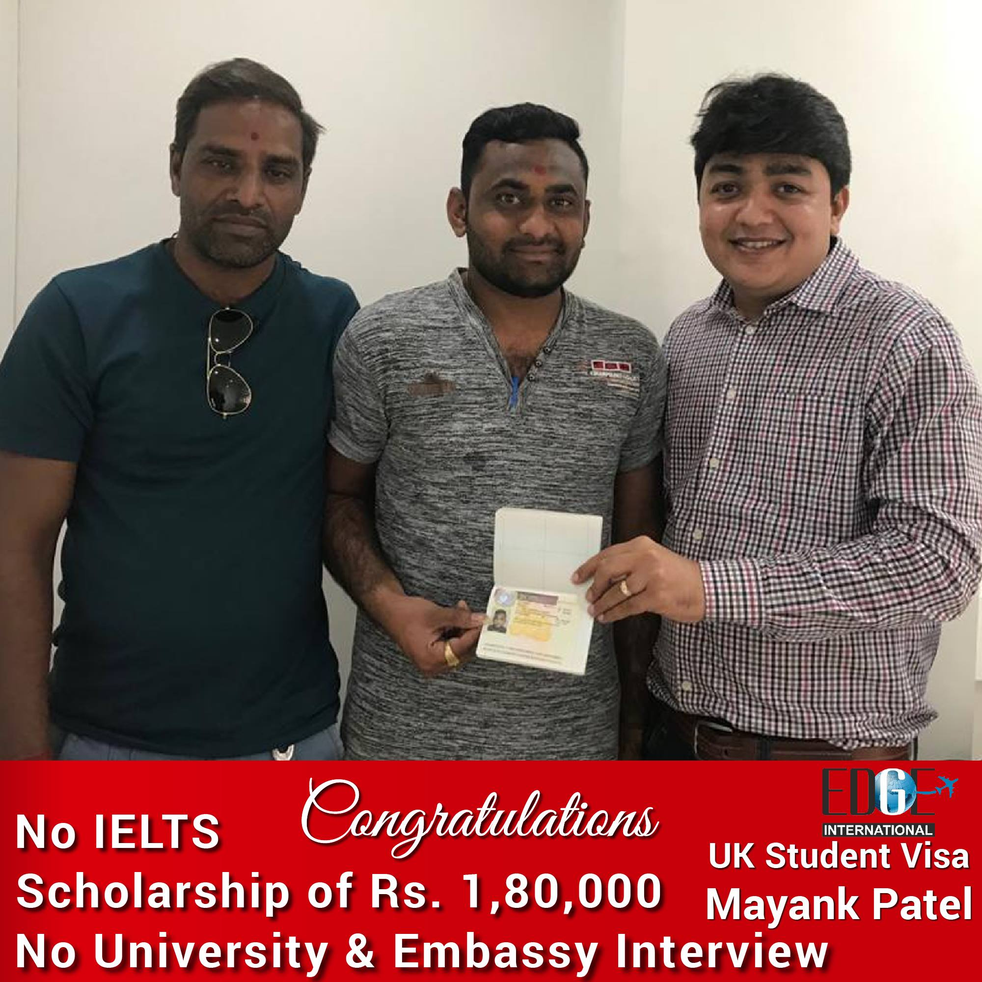 Many Congratulations to Mayank Patel for UK student