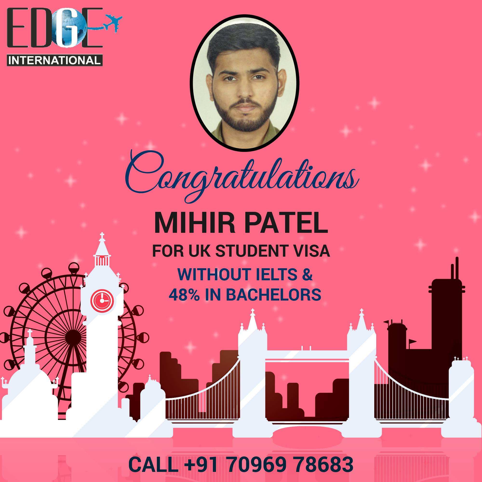 Many Many Hearty congratulations to Mihir Patel on getting