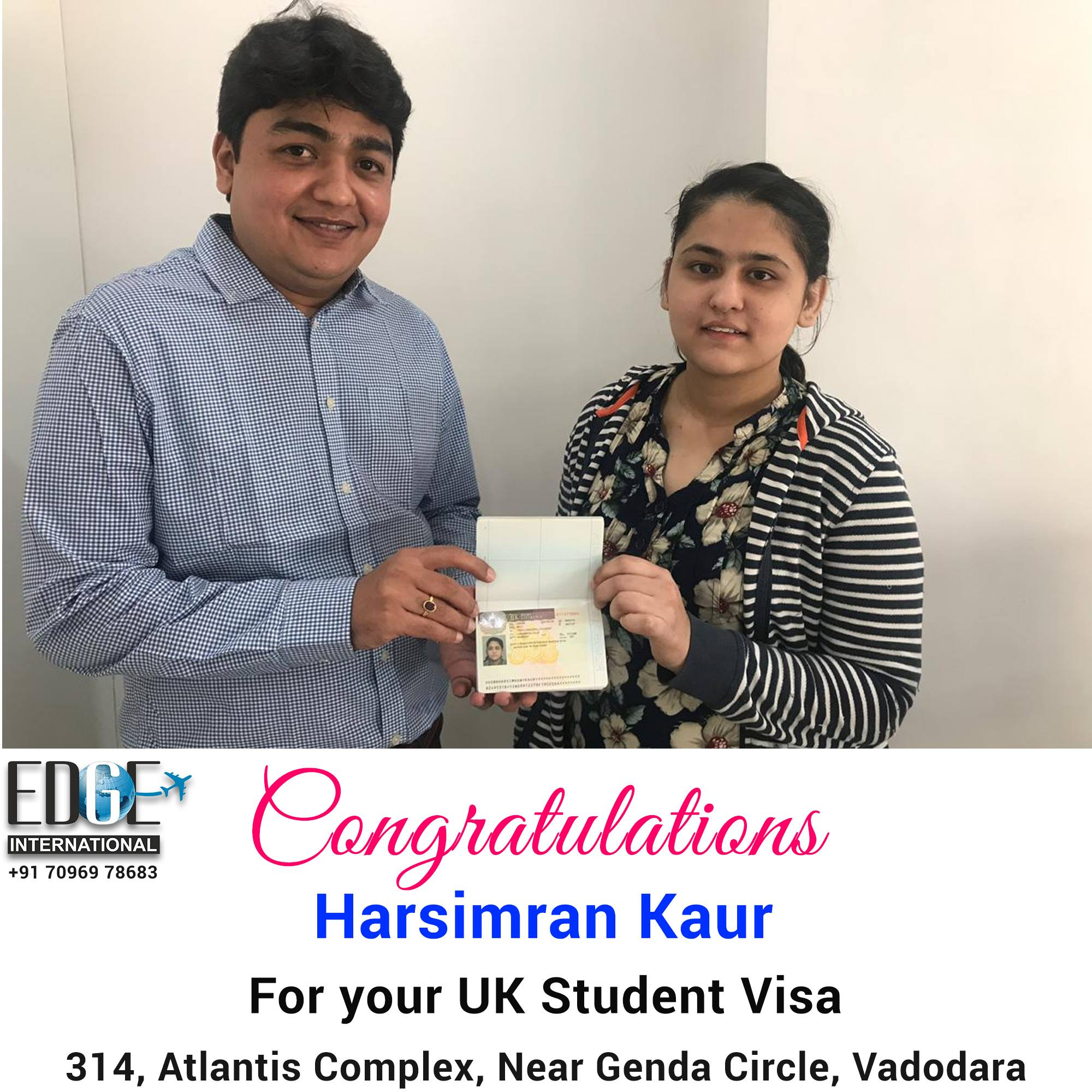 Our heartily Congratulations to Harsimran Kaur A student from