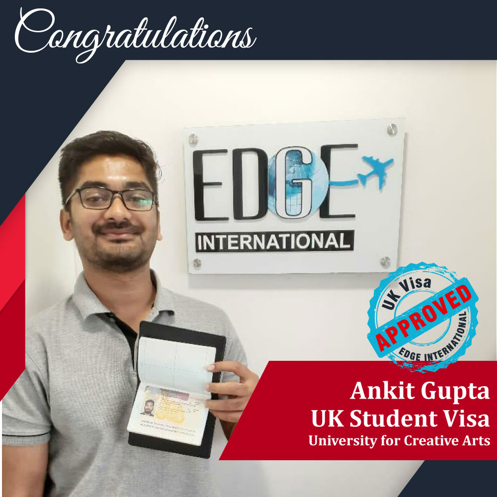 Congratulations Ankit Gupta for Securing UKStudentVisa for 16 months