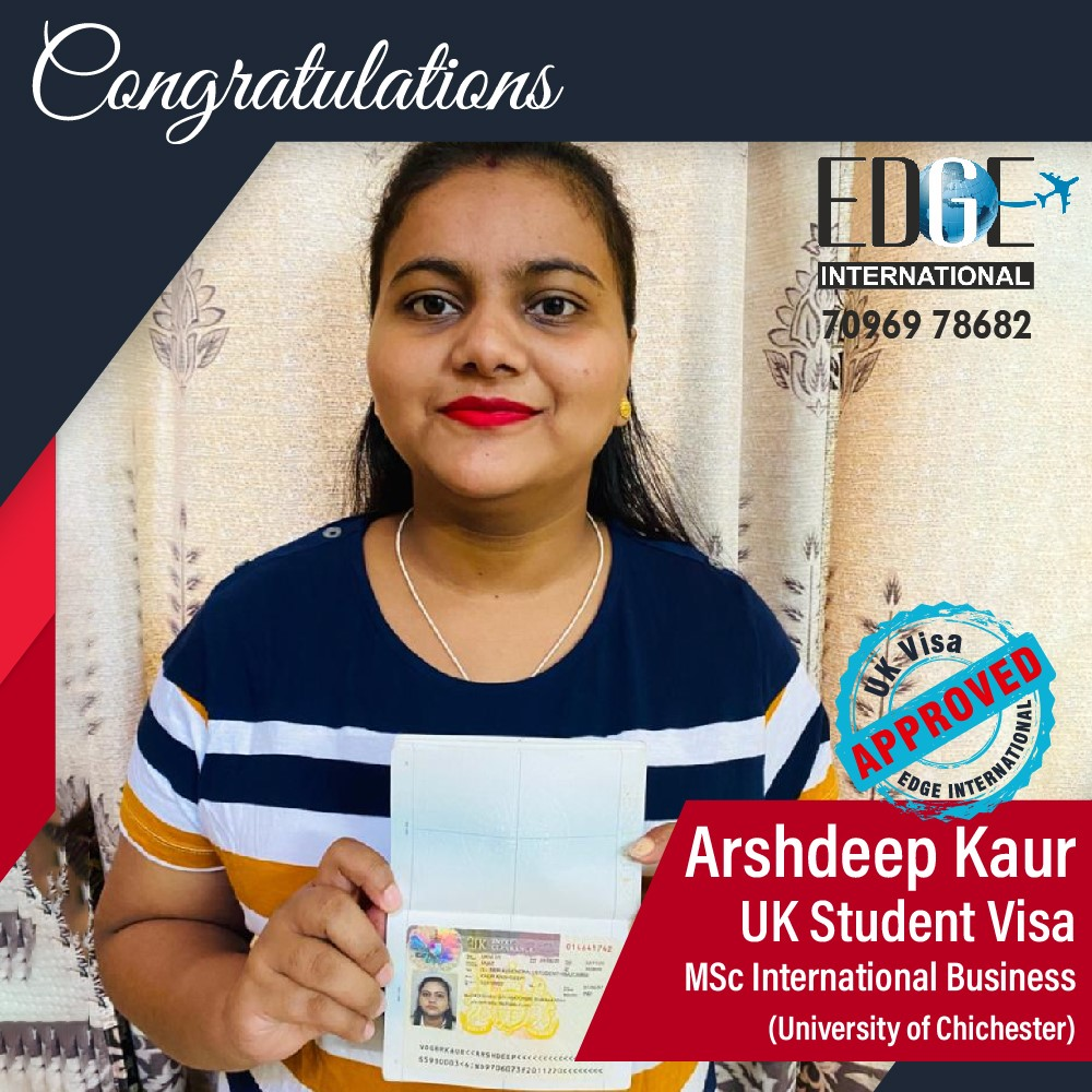 Congratulations 𝗔𝗿𝘀𝗵𝗱𝗲𝗲𝗽 𝗞𝗮𝘂𝗿 for Securing UKStudentVisa at University