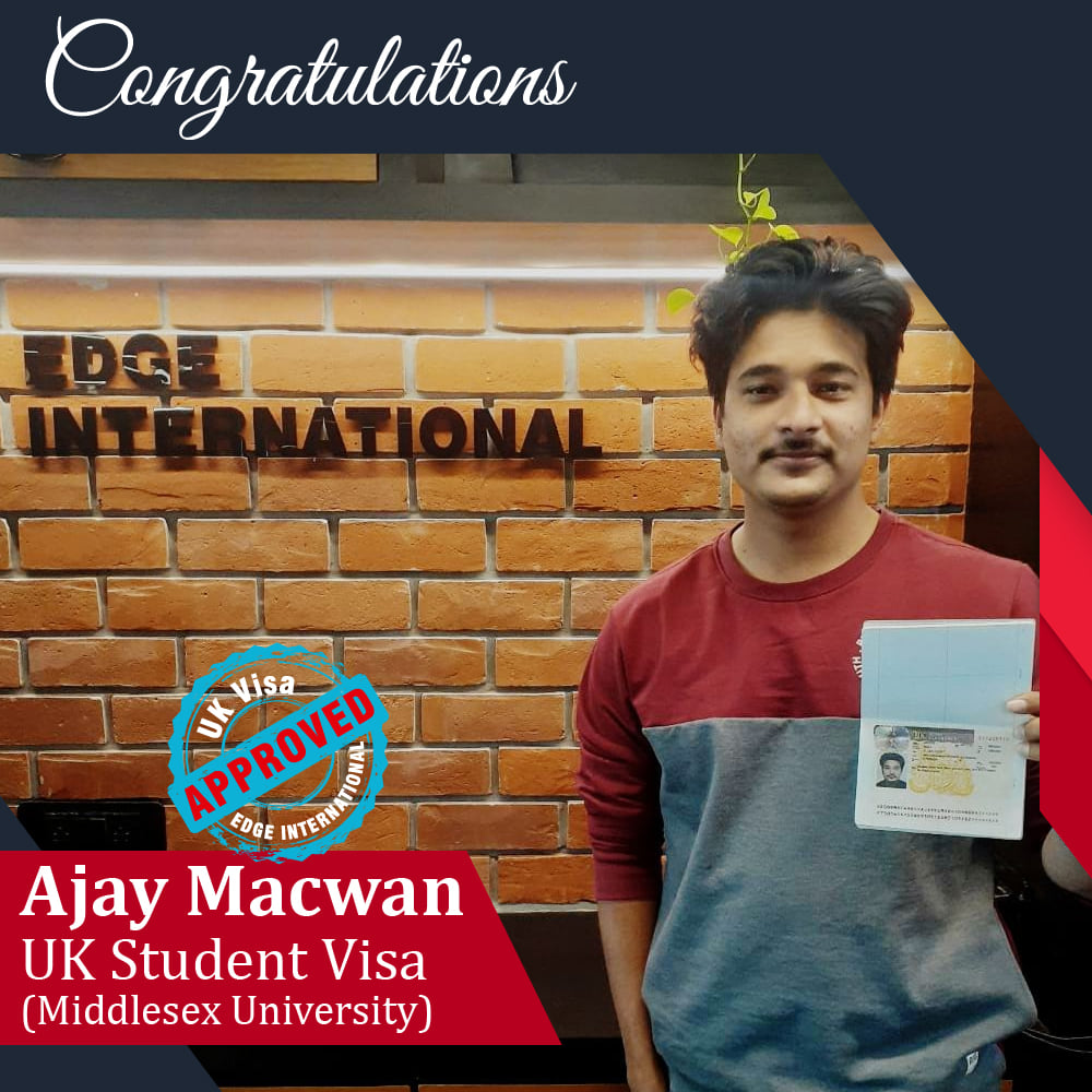 Congratulations 𝗔𝗷𝗮𝘆 𝗠𝗮𝗰𝘄𝗮𝗻 for Securing UKStudentVisa at