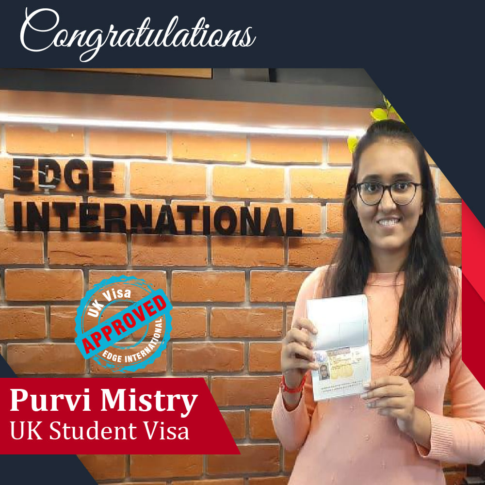 Congratulations 𝗣𝘂𝗿𝘃𝗶 𝗠𝗶𝘀𝘁𝗿𝘆 for Securing UKStudentVisa You deserve th