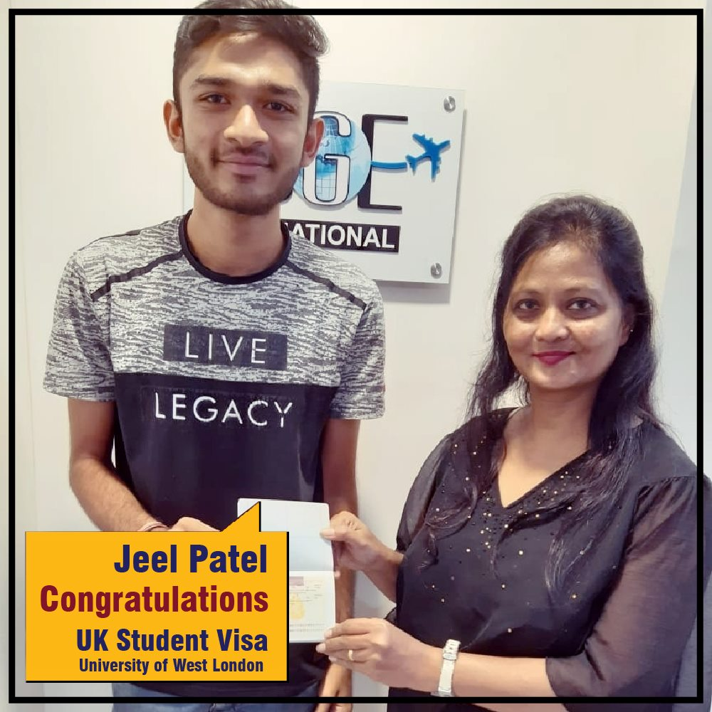 Warmest Congratulations Jeel Patel for getting UK StudentVisa in the
